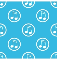 16th note sign blue pattern vector