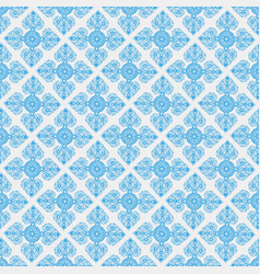 Abstract seamless pattern with blue thailand vector