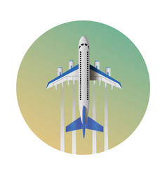 air travel infographics template eps10 vector image