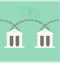 Blockchain bank transaction concept vector