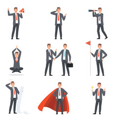 Businessmen characters people in business suits vector