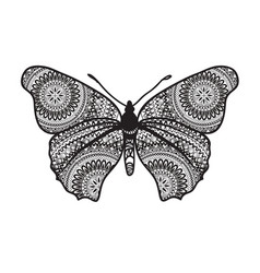 butterfly with floral ornamental wings butterfly vector image