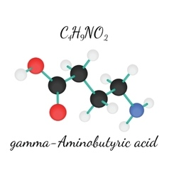 C4H9NO2 gamma-Aminobutyric acid molecule vector