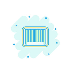 cartoon barcode product distribution icon in vector image