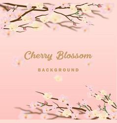 Cherry blossom background invitation vector