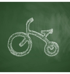 Childrens bike icon vector