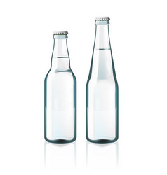 Clear water glass bottles isolated on white vector