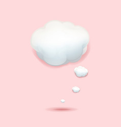 cloud icon isolated transparent background vector image