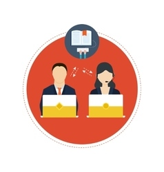Concept of consulting services and e-learning vector image