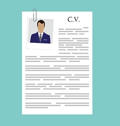Curriculum vitae with photo vector
