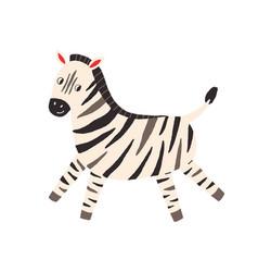 Cute and funny zebra in scandinavian vector