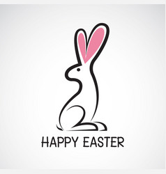 cute easter bunny rabbit vector image