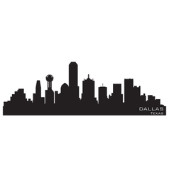 dallas city skyline silhouette vector images 77