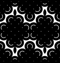 design seamless monochrome floral pattern vector image