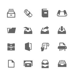 Document Icons vector