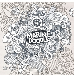 Doodles abstract decorative marine nautical vector image