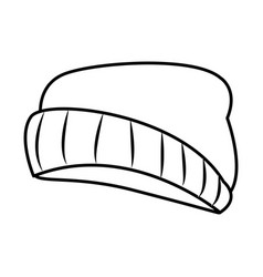 Fashion beanie hat vector