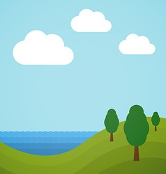 Flat landscape vector