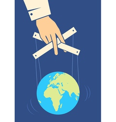 hand controls earth vector image