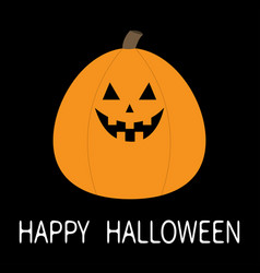 Happy halloween pumpkin funny creepy smiling face vector