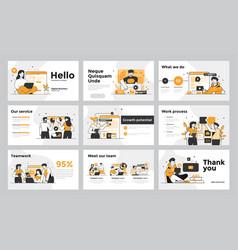 Infographics slide template design 4 vector
