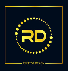 Initial letter rd logo template design vector