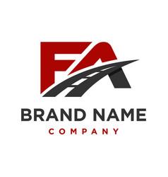 Initial logo fa road vector