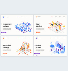 isometric investing in new business idea concept vector image