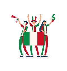 italian flag italy people vector image