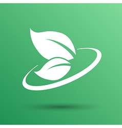 leaf icon green symbol nature fresh sign element vector image