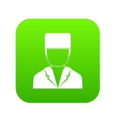 medical doctor icon digital green vector image