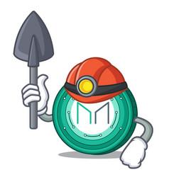 Miner maker coin mascot cartoon vector