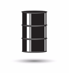 monochrome petrol barrel icon vector image
