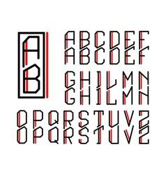 Monogram art nouveau and a set letters vector