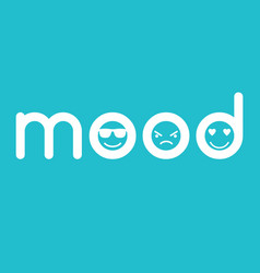 mood typographics concept with faces vector image