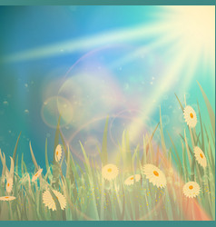 nature spring or summer vintage style background vector image