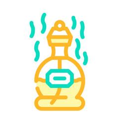 Perfume scent color icon line vector