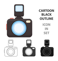 photo camera icon of for web vector image