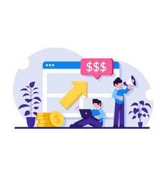 Ppc campaign concept pay per click vector