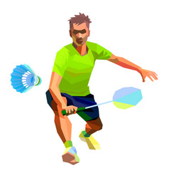 Professional badminton player vector