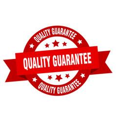 quality guarantee ribbon quality guarantee round vector image