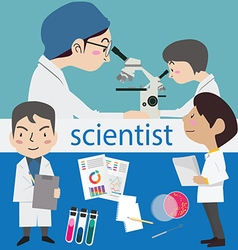 research science laboratory scientist vector image