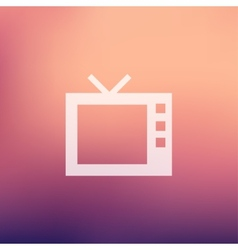 Retro television in flat style icon vector