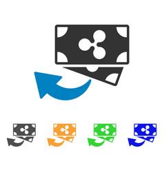 Ripple cashback icon vector