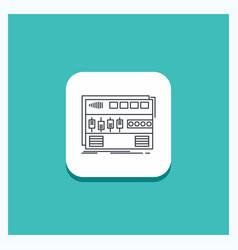 Round button for audio mastering module rackmount vector