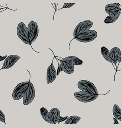 seamless pattern with hand drawn stylized iresine vector image