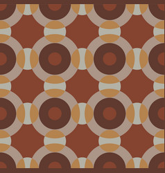 Seamless pattern with interacting circles vector
