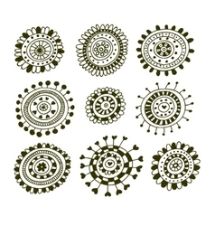Set of doodle decorative elements vector image