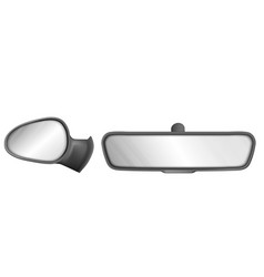 Side and rear view car mirrors vector