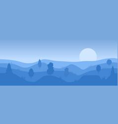 Simple evening landscape vector